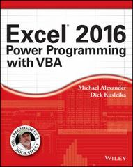 Excel 2016 Power Programming with VBA 1st Edition 9781119067566 1119067561