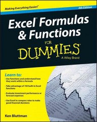 Excel Formulas and Functions For Dummies 4th Edition 9781119076780 1119076781