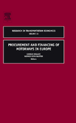 Procurement and Financing of Motorways in Europe 0 9780762312320 0762312327