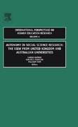 Autonomy in Social Science Research 0 9780762314058 0762314052