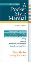 A Pocket Style Manual, APA Version 7th Edition 9781319011130 1319011136