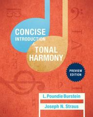 Concise Introduction to Tonal Harmony: Preview Edition 1st Edition 9780393264777 0393264777