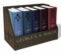 George R. R. Martin's A Game of Thrones Leather-Cloth Boxed Set (Song of Ice and Fire Series) 1st Edition 9781101965481 1101965487