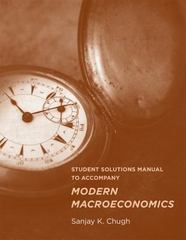 Student Solutions Manual to Accompany Modern Macroeconomics 1st Edition 9780262528061 0262528061