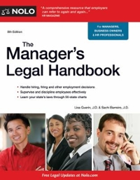 The Manager's Legal Handbook 8th Edition 9781413322378 1413322379