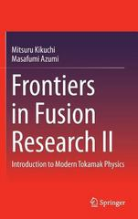 Frontiers in Fusion Research II 1st Edition 9783319189055 3319189050