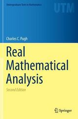 Real Mathematical Analysis 2nd Edition 9783319177717 3319177710