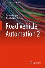 Road Vehicle Automation 2 1st Edition 9783319190785 3319190784