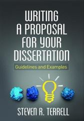 Writing a Proposal for Your Dissertation 1st Edition 9781462523023 1462523021
