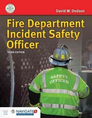 Fire Department Incident Safety Officer 3rd Edition 9781284041965 1284041964