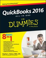 QuickBooks 2016 All-in-One For Dummies 1st Edition 9781119126072 111912607X