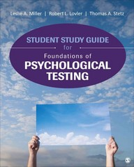 Student Study Guide for Foundations of Psychological Testing 1st Edition 9781506308043 150630804X