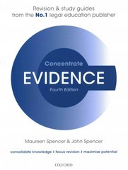 Evidence Concentrate 4th Edition 9780198729631 0198729634