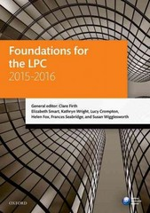 Foundations for the LPC 2015-16 19th Edition 9780198737698 0198737696