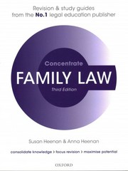 Family Law Concentrate 3rd Edition 9780198729648 0198729642