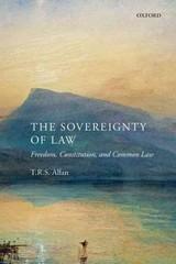 The Sovereignty of Law 1st Edition 9780199685073 019968507X