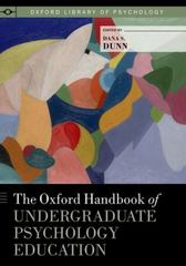 The Oxford Handbook of Undergraduate Psychology Education 1st Edition 9780199933822 0199933820