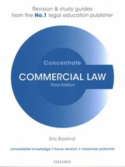 Commercial Law Concentrate 3rd Edition 9780198729716 0198729715