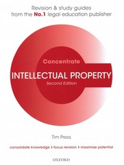 Intellectual Property Law Concentrate 2nd Edition 9780198729709 0198729707