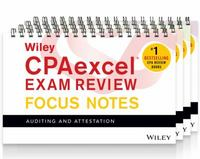 Wiley CPAexcel Exam Review 2016 Focus Notes Set 11th Edition 9781119120100 1119120101