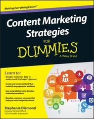 Content Marketing Strategies For Dummies 1st Edition 9781119154549 1119154545