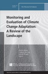 Monitoring and Evaluation of Climate Change Adaptation: A Review of the Landscape 1st Edition 9781119157588 1119157587