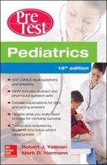 Pediatrics PreTest Self-Assessment And Review, 14th Edition 14th Edition 9780071838436 0071838430