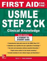 First Aid for the USMLE Step 2 CK, Ninth Edition 9th Edition 9780071844581 0071844589