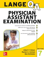 LANGE Q&A Physician Assistant Examination, Seventh Edition 7th Edition 9780071844994 0071844996