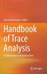 Handbook of Trace Analysis 1st Edition 9783319196138 3319196138