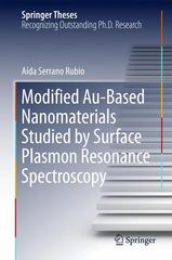 Modified Au-Based Nanomaterials Studied by Surface Plasmon Resonance Spectroscopy 1st Edition 9783319194011 3319194011