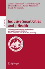 Inclusive Smart Cities and e-Health 1st Edition 9783319193120 3319193120