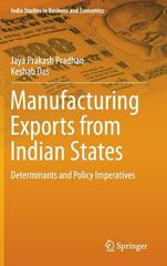 Manufacturing Exports from Indian States 1st Edition 9788132224822 8132224825