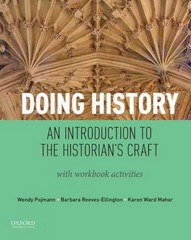 Doing History 1st Edition 9780199939817 0199939810