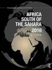 Africa South of the Sahara 2016 45th Edition 9781857437874 185743787X