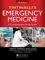 Tintinalli's Emergency Medicine: A Comprehensive Study Guide, 8th edition 8th Edition 9780071794763 007179476X
