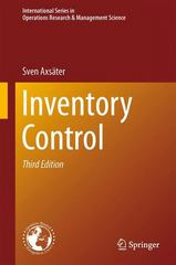 Inventory Control 3rd Edition 9783319157290 3319157299