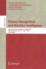 Pattern Recognition and Machine Intelligence 1st Edition 9783319199412 3319199412