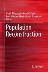 Population Reconstruction 1st Edition 9783319198842 331919884X