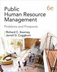 Public Human Resource Management 6th Edition 9781483393445 1483393445
