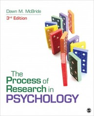 The Process of Research in Psychology 3rd Edition 9781483347608 1483347605