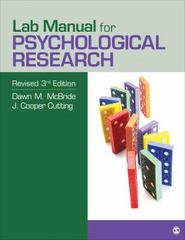 Lab Manual for Psychological Research 3rd Edition 9781506311340 1506311342