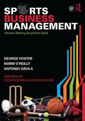 Sports Business Management 1st Edition 9781138919549 1138919543
