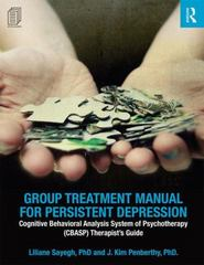 Group Treatment Manual for Persistent Depression 1st Edition 9781138926011 1138926019