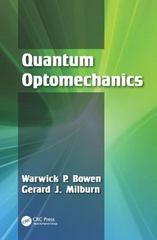 Quantum Optomechanics 1st Edition 9781482259155 148225915X