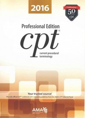 CPT 2016 Professional Edition 1st Edition 9781622022045 1622022041