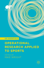 Operational Research Applied to Sports 1st Edition 9781137534675 1137534672