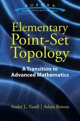 Elementary Point-Set Topology 1st Edition 9780486803494 048680349X