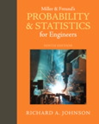 Miller & Freund's Probability and Statistics for Engineers 9th Edition 9780321986245 0321986245