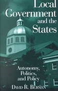 Local Government and the States: Autonomy, Politics and Policy 0 9780765610867 0765610868